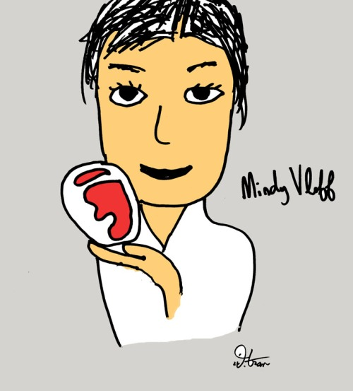 A cartoon of me from Donny Tran (yes, I know it says Vloff instead of Lvoff, but I still love it)