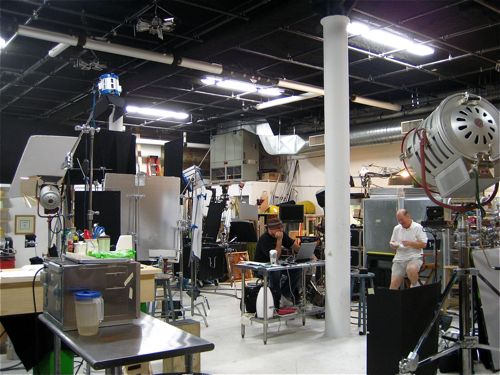 This is where Food Porn gets made.  Instead of a cheesy porn backdrop (get it? cheesy? haha?), you get a kitchen and a cloth-covered platform.